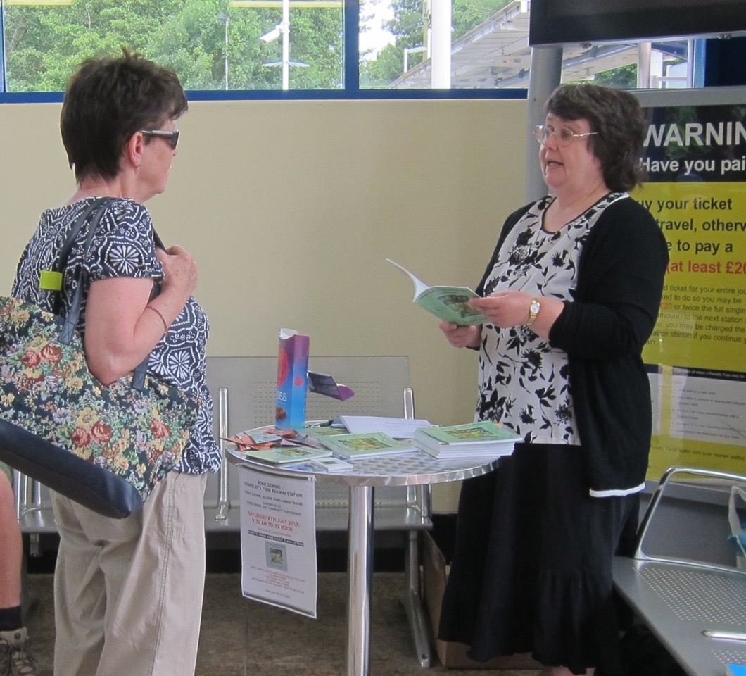 Allison Symes book signing at Chandlers Ford railway station